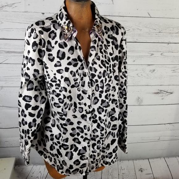 c5639f29c91ff4 Lane Bryant Tops - ⚡Lane Bryant Blouse Animal Print Plus Size 20